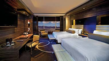Executive Resort Room with 2 queen beds and mountain view.