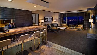 Night Shot in Classic One Bedroom Suite